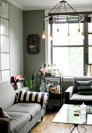 matte gray living room via design sponge